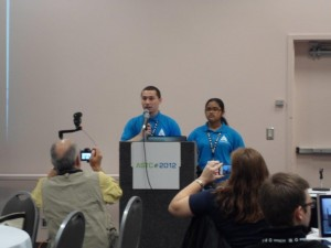 Youth presenters at ASTC annul conference