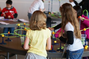 Exploring the physics of rollercoasters at Super SciGals, Exploration Place.